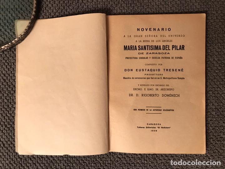 Libros antiguos: NOVENARIO MARIA SANTISIMA DEL PILAR (a.1939) - Foto 3 - 97220723