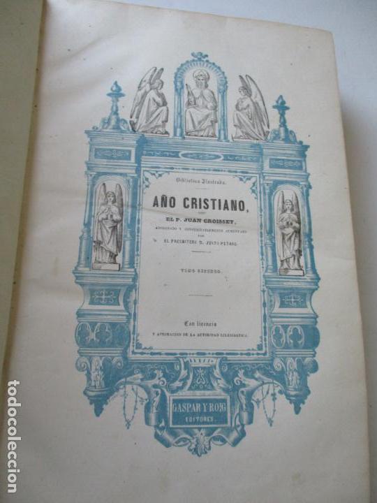 Libros antiguos: AÑO CRISTIANO-TOMO II-JUAN CROISSET-MADRID-IMPRENTA DE GASPAR Y ROIG, EDT-1852- CON LÁMINAS, (93) - Foto 4 - 97240355