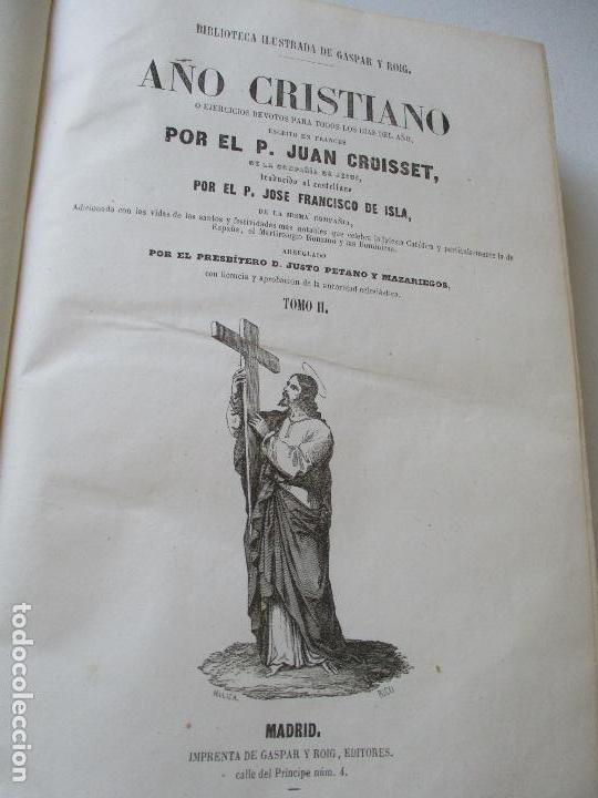 Libros antiguos: AÑO CRISTIANO-TOMO II-JUAN CROISSET-MADRID-IMPRENTA DE GASPAR Y ROIG, EDT-1852- CON LÁMINAS, (93) - Foto 5 - 97240355