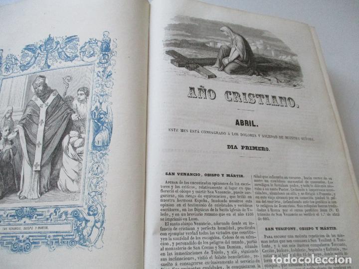 Libros antiguos: AÑO CRISTIANO-TOMO II-JUAN CROISSET-MADRID-IMPRENTA DE GASPAR Y ROIG, EDT-1852- CON LÁMINAS, (93) - Foto 6 - 97240355