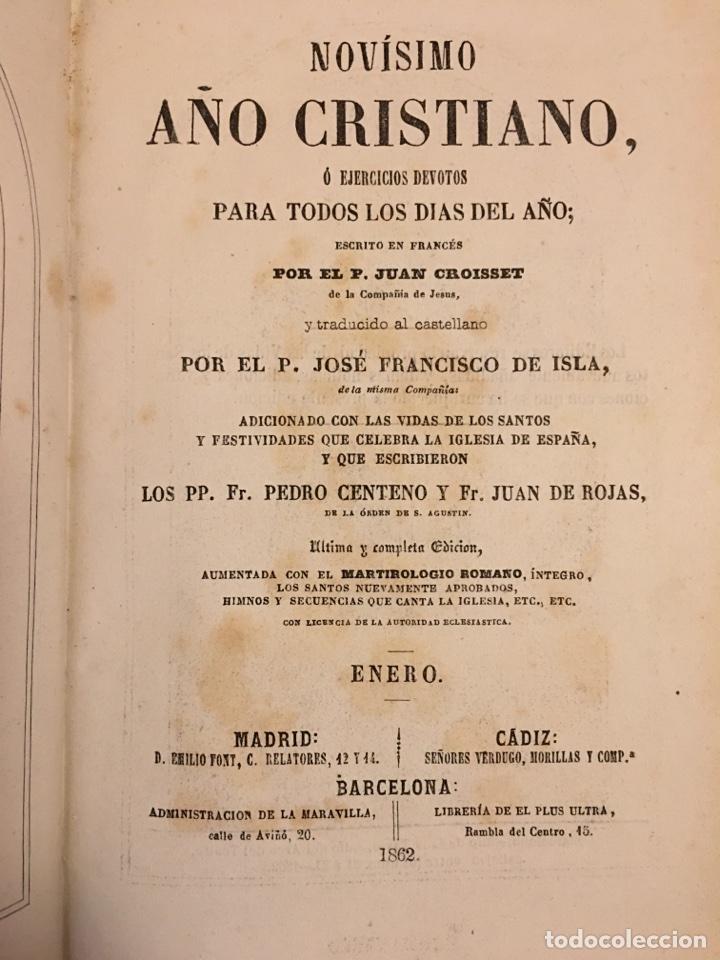 Libros antiguos: AÑO CRISTIANO - 12 TOMOS - 1862 - Foto 4 - 97325139