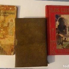 Libros antiguos: LOTE DE 3 LIBROS RELIGIOSOS ANTIGUOS, VER FOTOS. Lote 143151842
