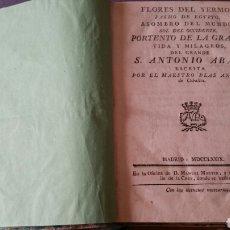 Libros antiguos: VIDA DE SAN ANTONIO ABAD 1779. Lote 97384747