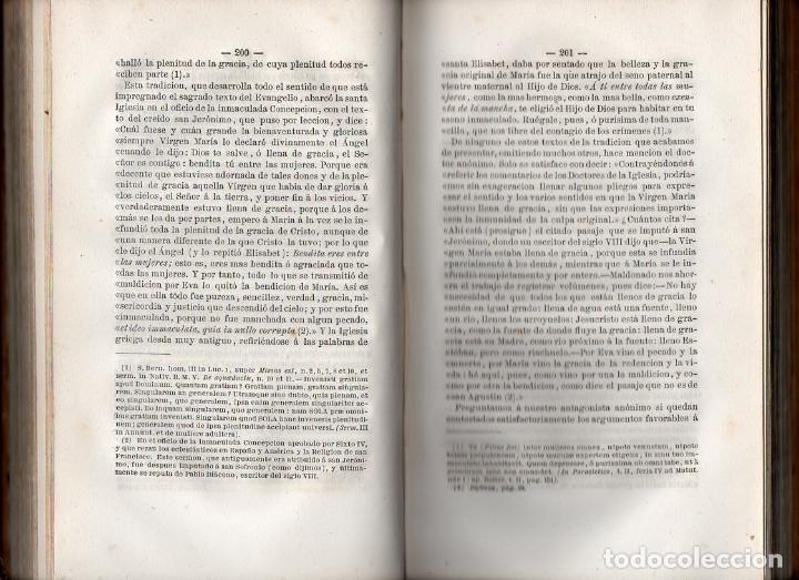 Libros antiguos: PEDRO GUAL : TRIUNFO DEL CATOLICISMO EN LA INMACULADA CONCEPCIÓN DE LA VIRGEN MARÍA (1862) - Foto 2 - 97481331