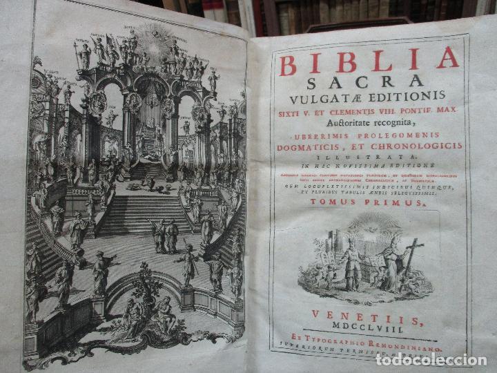 BIBLIA SACRA VULGATAE EDITIONIS... VENECIA, 1758. (Libros Antiguos, Raros y Curiosos - Religión)