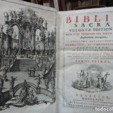Libros antiguos: BIBLIA SACRA VULGATAE EDITIONIS... VENECIA, 1758.. Lote 97721811