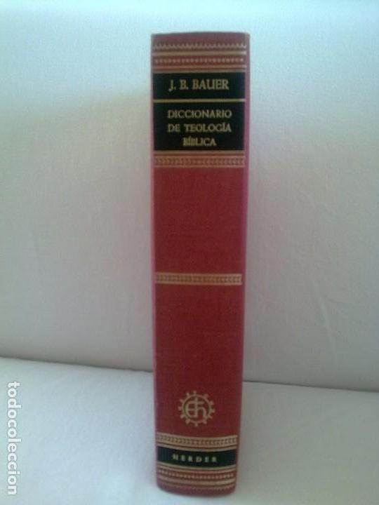 DICCIONARIO DE TEOLOGIA BIBLICA (Libros Antiguos, Raros y Curiosos - Religión)