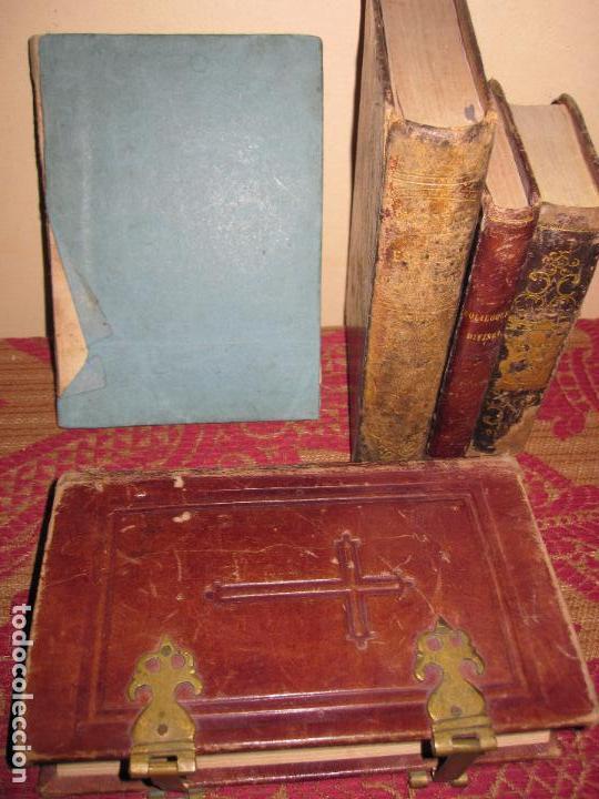 INTERESANTE LOTE DE 5 LIBROS RELIGIOSOS SIGLOS XVIII Y XIX. (Libros Antiguos, Raros y Curiosos - Religión)