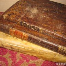 Alte Bücher - 3 INTERESANTES LIBROS RELIGIOSOS ENCUADERNADOS EN PIEL Y PERGAMINO. UNO CON GRABADOS - 99518467