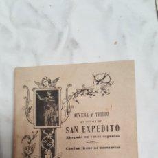 Libros antiguos: ANTIGUO LIBRO DE SAN EXPEDITO. Lote 99788690