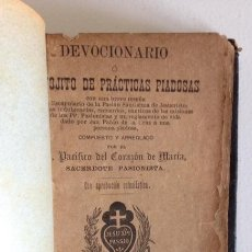Libros antiguos: DEVOCIONARIO+BILBAO+1892. Lote 100209711