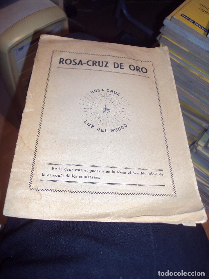 Libros antiguos: 3 libros de los rosa cruz - Foto 3 - 100399927