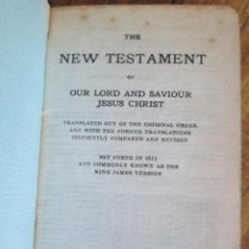 Libri antichi: THE NEW TEXTAMENT - OF OUR LORD AND SAVIOUR JESUS CHIRST - AMERICAN BIBLE SOCIETY 1816. Lote 100757151