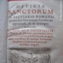 Libros antiguos: OFFICIA SANCTORUM.-BREVARIO ROMANO.-RELIGION.-GRABADO.-IMPRENTA ANTONIO MARIN.-MADRID.-AÑO 1753.. Lote 102532307