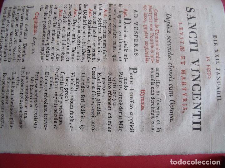 Libros antiguos: OFFICIA SANCTORUM.-BREVARIO ROMANO.-RELIGION.-GRABADO.-IMPRENTA ANTONIO MARIN.-MADRID.-AÑO 1753. - Foto 4 - 102532307
