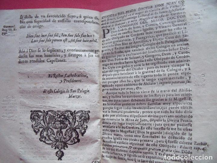 Libros antiguos: PEDRO SALAZAR Y GONGORA.-DECLAMACION PANEGYRICA.-RELIGION.-OBISPO DE JAEN.-JAEN.-CORDOBA.-AÑO 1738. - Foto 3 - 102624183