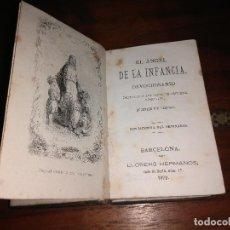 Libros antiguos: EL ÁNGEL DE LA INFANCIA DEVOCIONARIO, , 1872. Lote 102567076