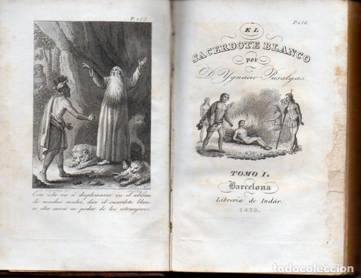 IGNACIO PUSALGAS : EL SACERDOTE BLANCO TOMO I (INDAR, 1839) (Libros Antiguos, Raros y Curiosos - Religión)