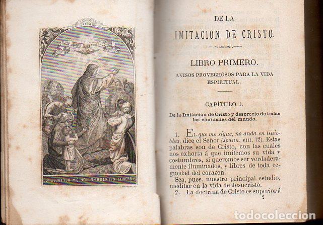 Libros antiguos: TOMÁS DE KEMPIS : DE LA IMITACIÓN DE CRISTO Y MENOSPRECIO DEL MUNDO (LLORENS, 1877) - Foto 5 - 102948387