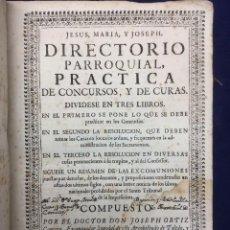 Libros antiguos: DIRECTORIO PARROQUIAL. 1727. Lote 103130395