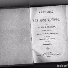 Libros antiguos: ESPERANZA A LOS QUE LLORAN. EDICIÓN DE 1886. LIBRO APOSTÓLICO DEL REVERENDO FRANCÉS P. MARCHAL. Lote 103233899