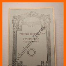 Libros antiguos: CONFERENCIAS ESPIRITUALES - FEDERICO GUILLERMO FABER. Lote 103375939