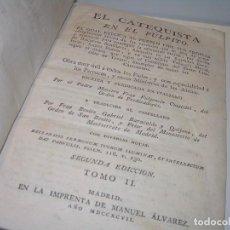 Libros antiguos: LIBRO TAPAS DE PERGAMINO..EL CATEQUISTA EN EL PULPITO...AÑO..1797. Lote 103630035