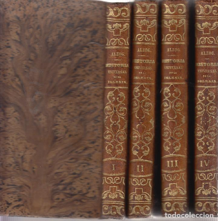 HISTORIA UNIVERSAL DE LA IGLESIA JUAN ALZOG 1868 MAPAS COMPLETA (Libros Antiguos, Raros y Curiosos - Religión)