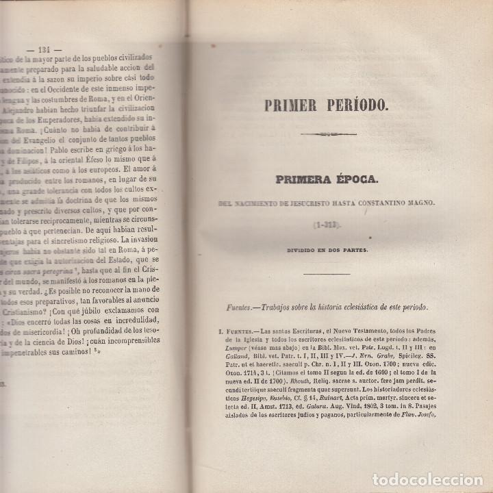 Libros antiguos: HISTORIA UNIVERSAL DE LA IGLESIA JUAN ALZOG 1868 MAPAS COMPLETA - Foto 4 - 103783267