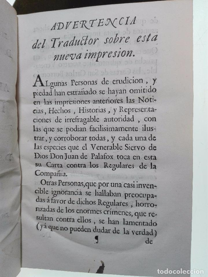 Libros antiguos: CARTA DEL VENERABLE SIERVO DE DIOS D. JUAN DE PALAFOX Y MENDOZA AL SUMO PONTIFICE INICENCIO X - 1768 - Foto 4 - 103912739