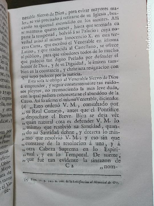 Libros antiguos: CARTA DEL VENERABLE SIERVO DE DIOS D. JUAN DE PALAFOX Y MENDOZA AL SUMO PONTIFICE INICENCIO X - 1768 - Foto 5 - 103912739