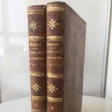 Libri antichi: SERMONES DE CUARESMA Y PASCUA - PABLO SEGNERI - DECORACIÓN BONITA ENCUADERNACIÓN 1869 2 TOMOS. Lote 103969119