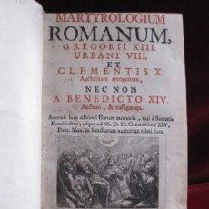 Libros antiguos: MARTYROLOGIUM ROMANUM, GREGORII XIII. URBANI VIII. ET CLEMENTIS X... BENEDICTO XIV (1773). Lote 104141359