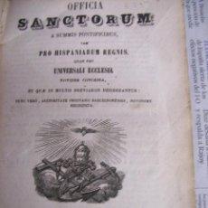 Libros antiguos: OFFICIA SANCTORUM.AÑO 1855. Lote 104615491