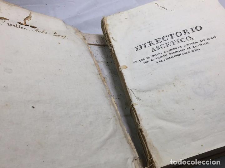 Libros antiguos: Directorio Ascético Scaramelli Bonet tomo II Madrid 1789 pergamino compañia Jesús Jesuita - Foto 2 - 104729355