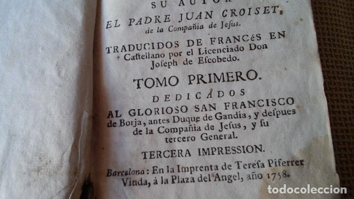 Libros antiguos: LIBRO 1758 - DISCURSOS ESPIRITUALES SOBRE LOS ASSUMPTOS MAS IMPORTANTES VIDA CHRISTIANA - VER FOTOS - Foto 4 - 104914587