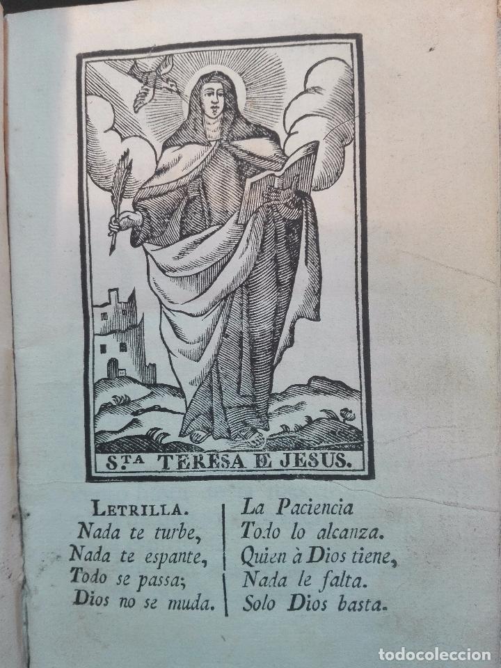 Libros antiguos: REFLEXIONES SOBRE LA LETRILLA, QUE LLEVABA LA SANTA MADRE TERESA DE JESUS - D. GASPAR PEREZ GOMEZ - - Foto 5 - 105066731