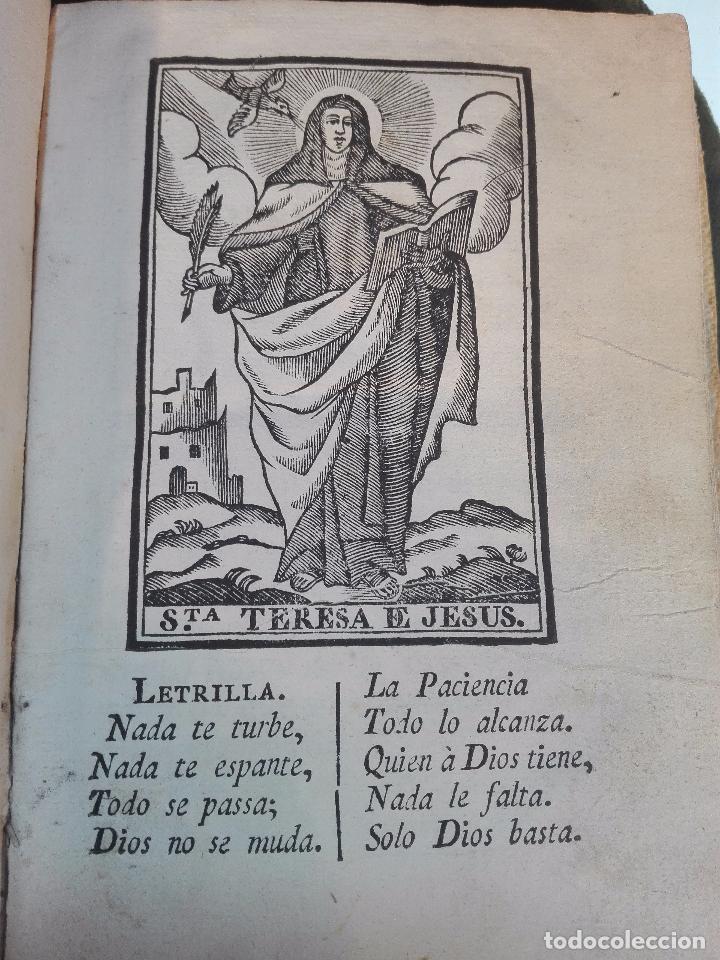 Libros antiguos: REFLEXIONES SOBRE LA LETRILLA, QUE LLEVABA LA SANTA MADRE TERESA DE JESUS - D. GASPAR PEREZ GOMEZ - - Foto 6 - 105066731