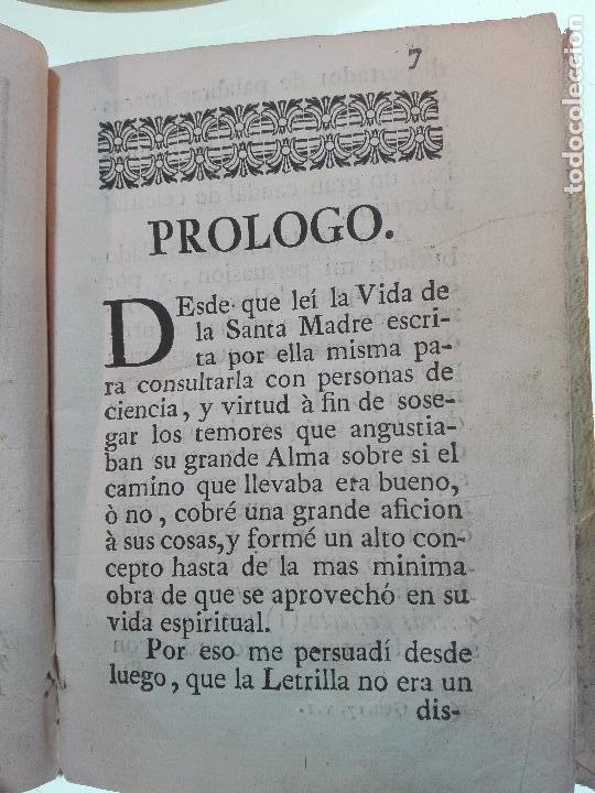 Libros antiguos: REFLEXIONES SOBRE LA LETRILLA, QUE LLEVABA LA SANTA MADRE TERESA DE JESUS - D. GASPAR PEREZ GOMEZ - - Foto 7 - 105066731