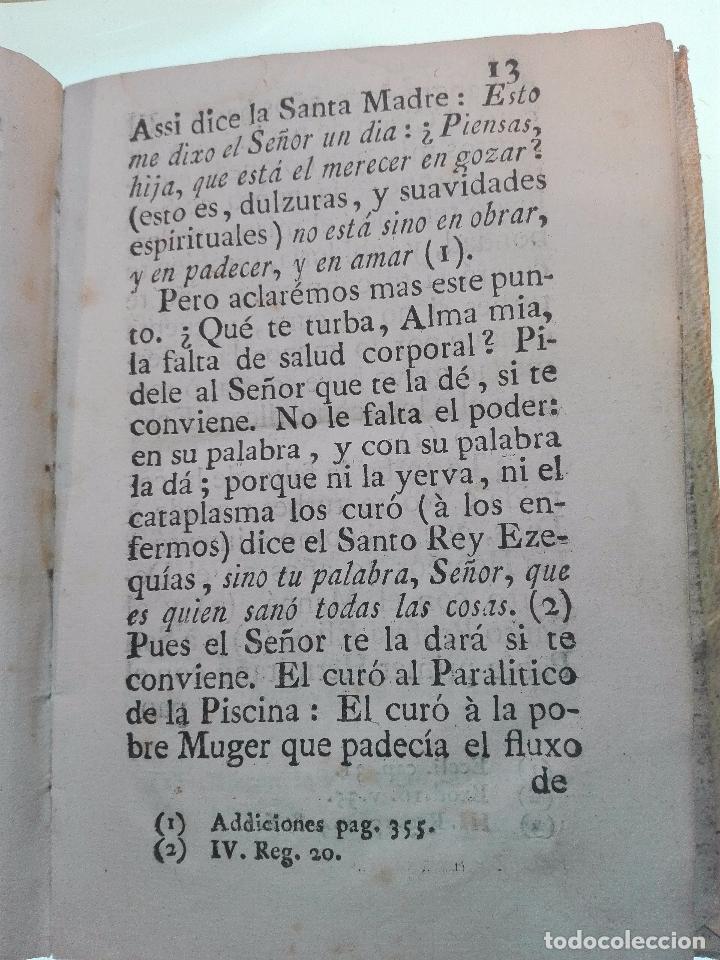 Libros antiguos: REFLEXIONES SOBRE LA LETRILLA, QUE LLEVABA LA SANTA MADRE TERESA DE JESUS - D. GASPAR PEREZ GOMEZ - - Foto 8 - 105066731