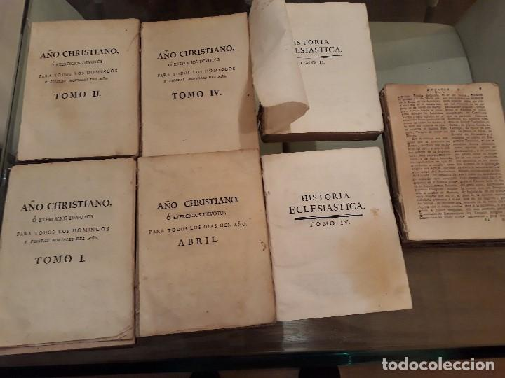 Libros antiguos: Lote de 10 libros siglo XVIII Algunas páginas de Quixote siglo XVIII. Quijote - Foto 3 - 105207467