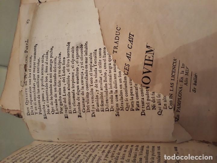 Libros antiguos: Lote de 10 libros siglo XVIII Algunas páginas de Quixote siglo XVIII. Quijote - Foto 17 - 105207467