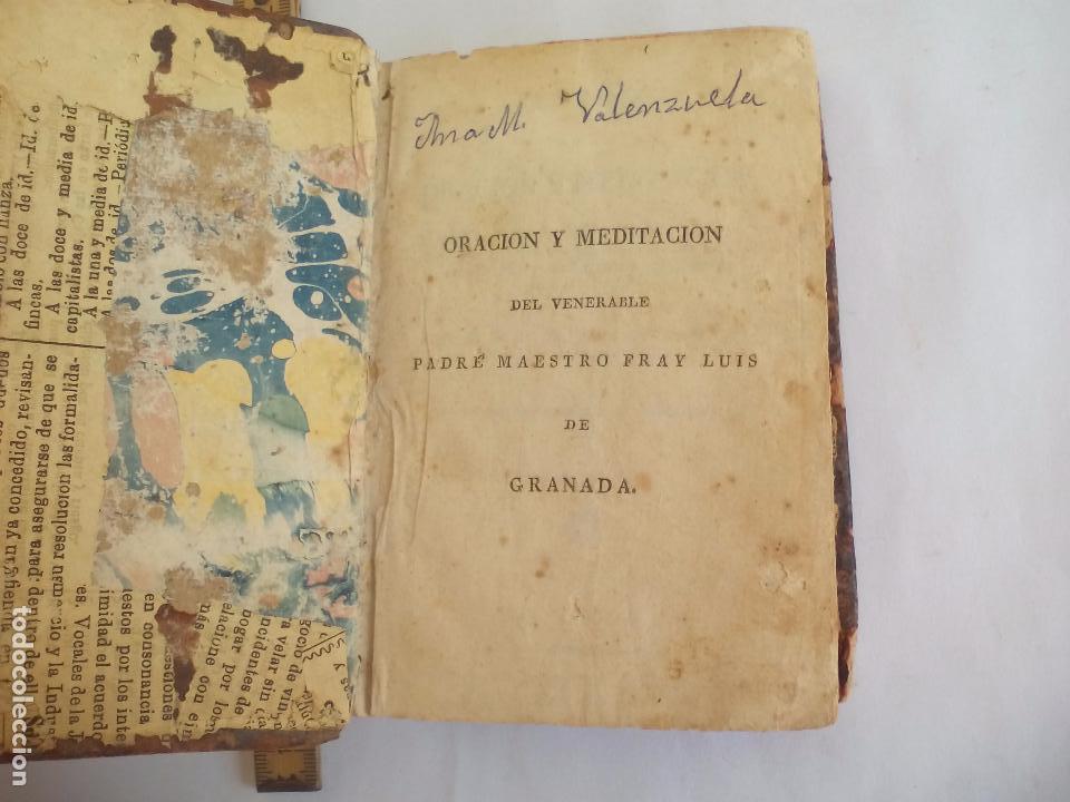 Libros antiguos: Libro de la Oración y Meditación del venerable Padre Maestro Fray Luis de Granada.1766.imp. Piferrer - Foto 7 - 105332939