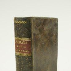 Libros antiguos: OFICIO DE LA SEMANA SANTA Y SEMANA DE PASCUA, 1823, JOSÉ RIGUAL. 10X15,5CM. Lote 105805559
