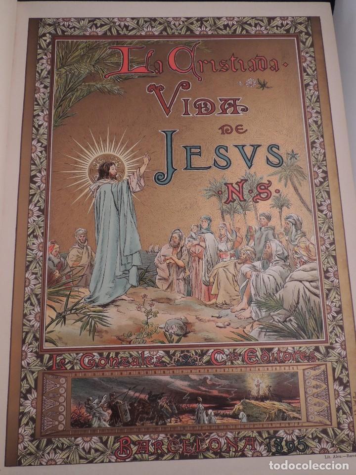 Libros antiguos: LIBRO LA CRISTIADA VIDA DE JESUS POR DIEGO DE HOJEDA 1896 - Foto 3 - 105834599