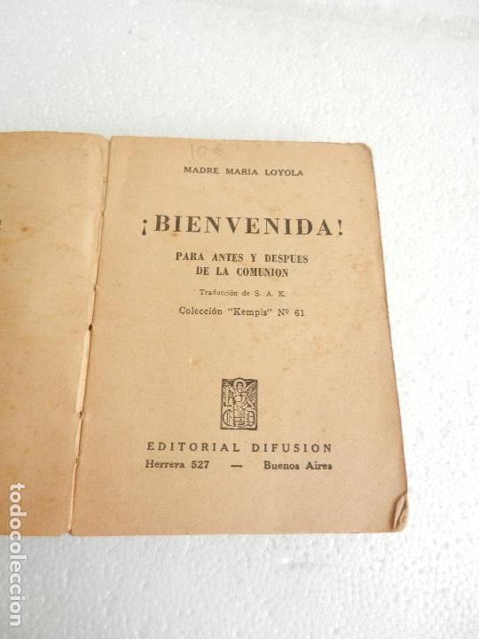 eec7afa64 Libros antiguos: BIENVENIDA PARA ANTES Y DESPUÉS DE LA COMUNIÓN MADRE MARÍA  LOYOLA ED.