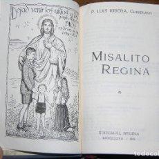 Libros antiguos: F1 MISALITO REGINA AÑO 1966 MEDIDAS 14 X 9 CM. Lote 106636035