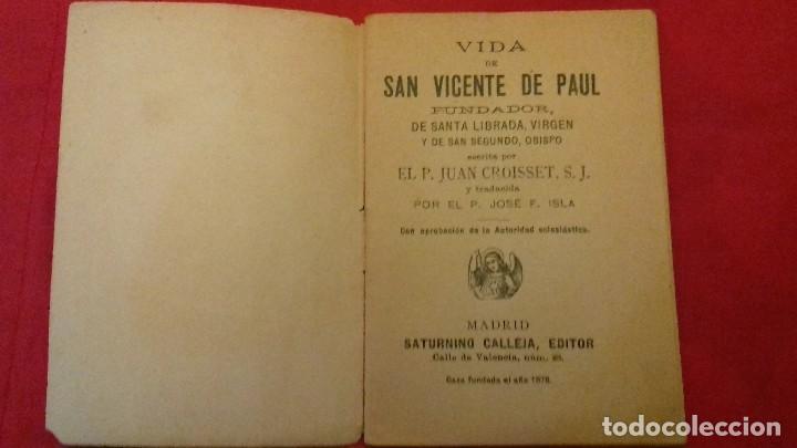 Libros antiguos: LIBRILLO CALLEJA, SAN VICENTE DE PAUL, FLORES CELESTES, VIDA DE SANTA LIBRADA AÑO 1876 - 32 PG - Foto 2 - 106963311