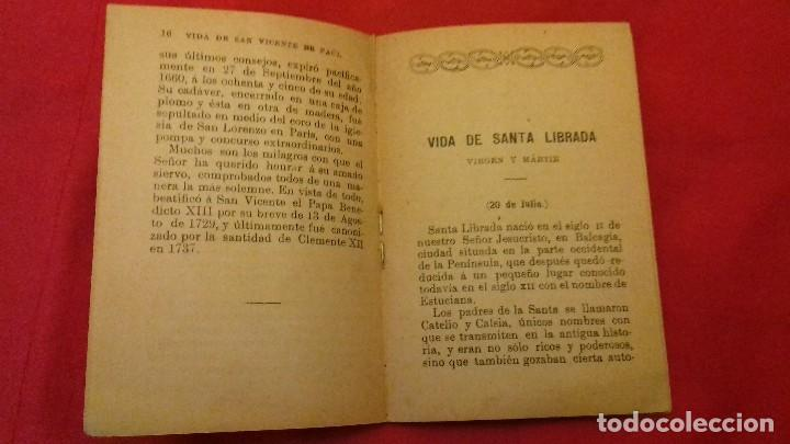 Libros antiguos: LIBRILLO CALLEJA, SAN VICENTE DE PAUL, FLORES CELESTES, VIDA DE SANTA LIBRADA AÑO 1876 - 32 PG - Foto 3 - 106963311