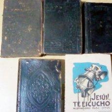 Libros antiguos: LOTE DE 5 LIBROS RELIGIOSOS -MANA DEL CRISTIANO-1898 - VIVA JESUS DE SANTA TERESA DE 1910.SANTISIMO . Lote 107177619